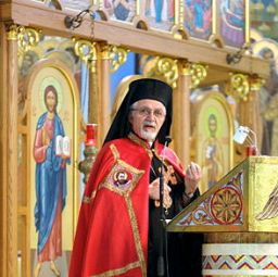 Bishop Nicholas Samra, head of the Melkite Catholic Church in the United States.