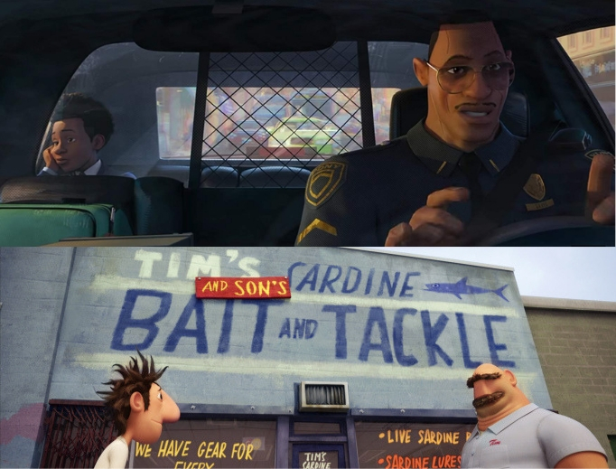 Son Miles and dad Jeff in Spider-Man: Into the Spider-Verse and son Flint and dad Tim in Cloudy With a Chance of Meatballs have unique relationship dynamics.