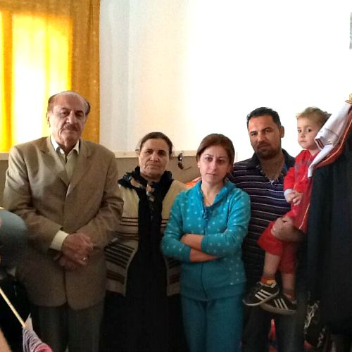 This family of Iraqi Christians are refugees at a Catholic church in Amman, Jordan, in October 2014, waiting for a new life in another country, after being driven out of their homes in the Nineveh Plain of Iraq when ISIS gave them the choice to convert or die.