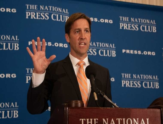Senator Ben Sasse of Nebraska speaks at the Press Club in Washington, D.C., 2018.