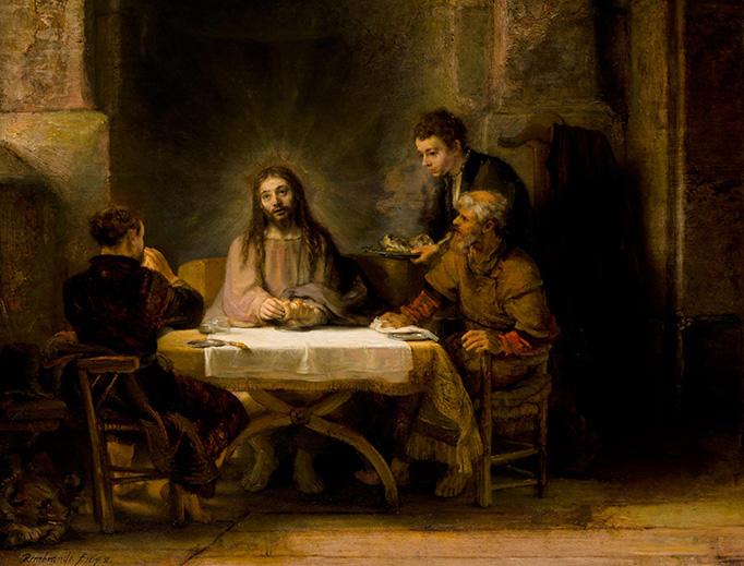 "Rembrandt, ""The Supper at Emmaus"", 1648"