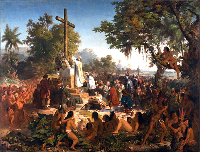"Victor Meirelles, ""The First Mass in Brazil,"" 1860"
