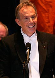 Tony Blair at the 2007 Al Smith Dinner in New York.