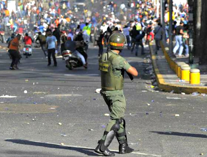 Violence breaks out during protests in Venezuela.