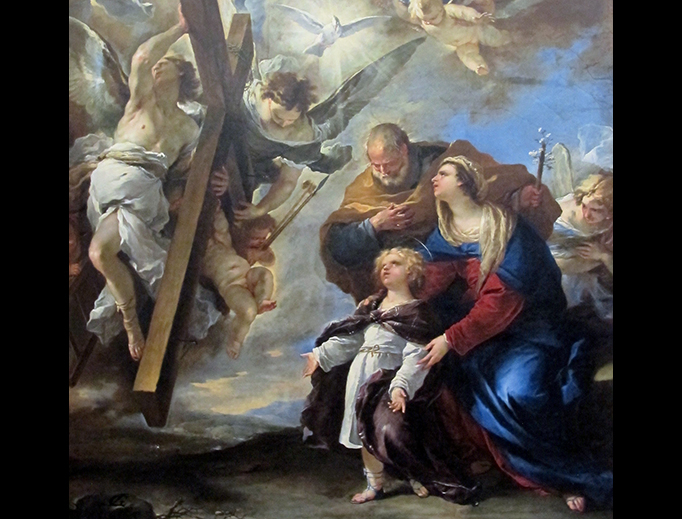 "Luca Giordano, ""Holy Family With Symbols of the Passion,"" 1660"
