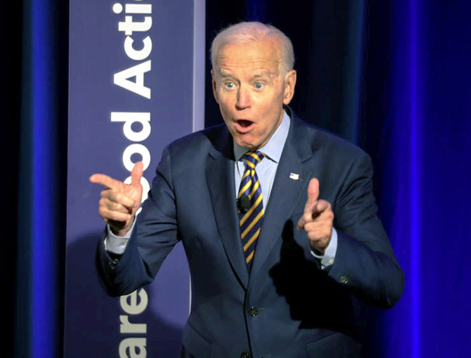 "Joe Biden leads a crowd in a chant of ""Vote!"" at the ""We Decide: Planned Parenthood Action Fund 2020 Election Forum to Focus on Abortion and Reproductive Rights"" event in Columbia, South Carolina, on June 22, 2019."