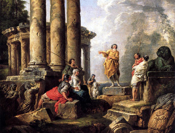 "Giovanni Paolo Panini, ""Ruins With St. Paul Preaching"", 1735"