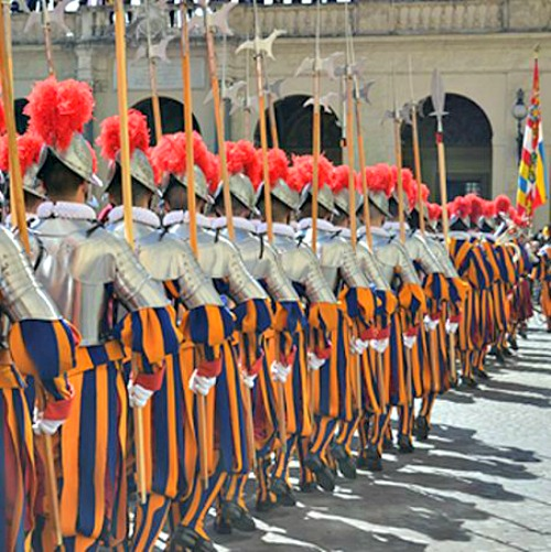 Swearing in of the Pontifical Swiss Guard at the Vatican on May 6.