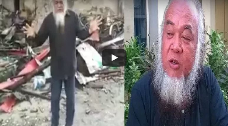 Father Teresito Suganob in video appeal after capture.