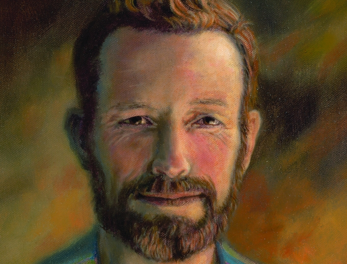 Above, Father Stanley Rother portrait. Below, Archbishop Paul Coakley of Oklahoma City looks forward to the Sept. 23 beatification of Father Rother.