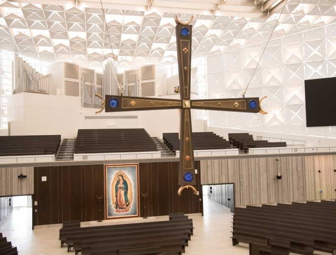 Catholic elements are now front and center in the renovated Christ Cathedral, which was dedicated July 17.