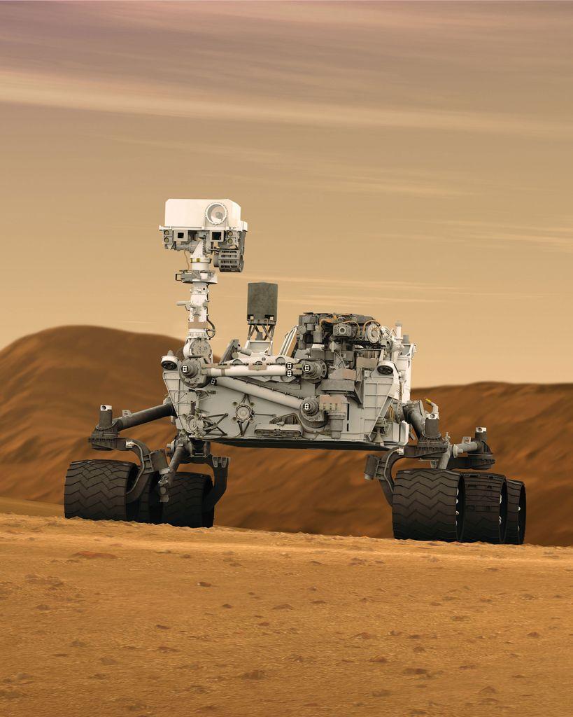 An artist's impression of NASA's Mars Science Laboratory Curiosity rover.