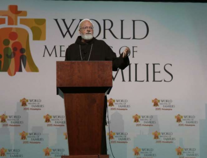 Cardinal Sean O'Malley at the World Meeting of Families in Philadelphia.