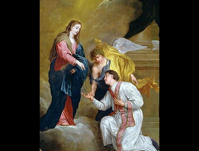 "David Teniers III, ""Saint Valentine Kneeling"", 17th century"
