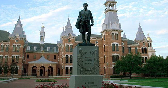 Built in 1887 as a dormitory for women, Baylor University's Burleson Hall now houses the administrative offices of the College of Arts and Sciences.