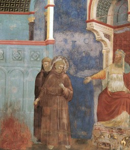Detail of St. Francis Before the Sultan by Giotto
