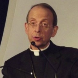 Archbishop William Lori of Baltimore speaks during the 2012 National Religious Freedom award dinner May 24.