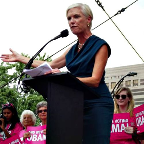 Planned Parenthood Federation of America CEO Cecile Richards speaks during a rally in support of the organization.