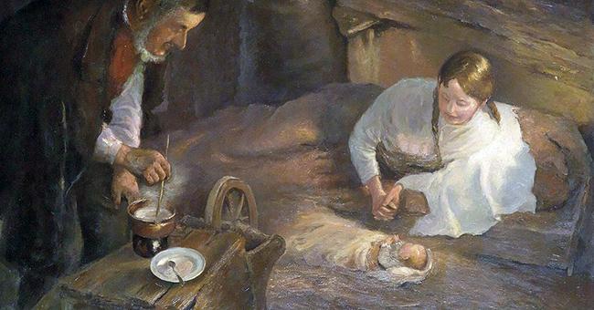 "Fritz von Uhde (1848–1911), ""Christmas Night"""