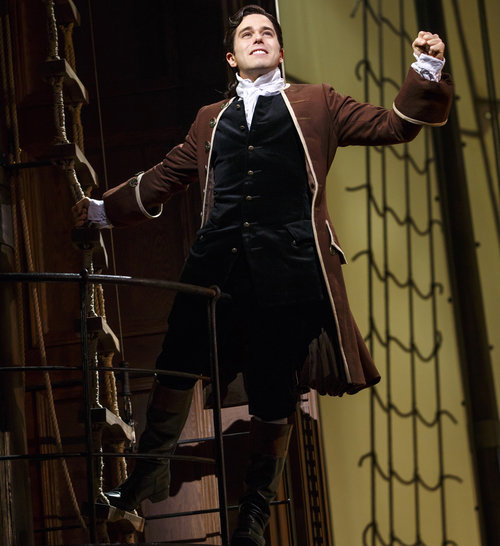 Josh Young shown in Amazing Grace on Broadway