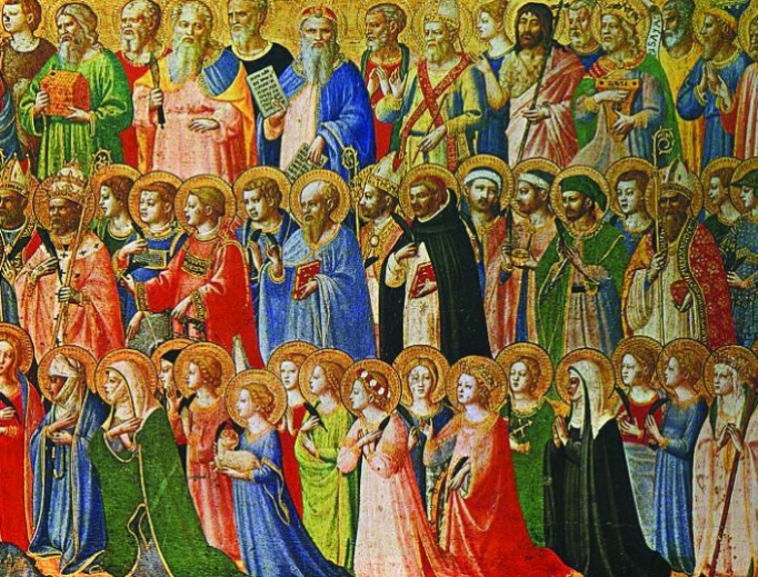Fra Angelico's The Forerunners of Christ With Saints and Martyrs, 1420s