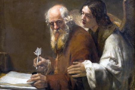 Karel van der Pluym, 'St. Matthew and the Angel', ca. 1655-1660