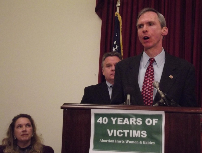 Rep. Dan Lipinski, D-Ill., speaks at a press conference on the 40th anniversary of Roe v. Wade on Capitol Hill.