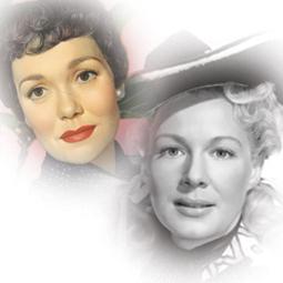 Jane Wyman (left) and Betty Hutton