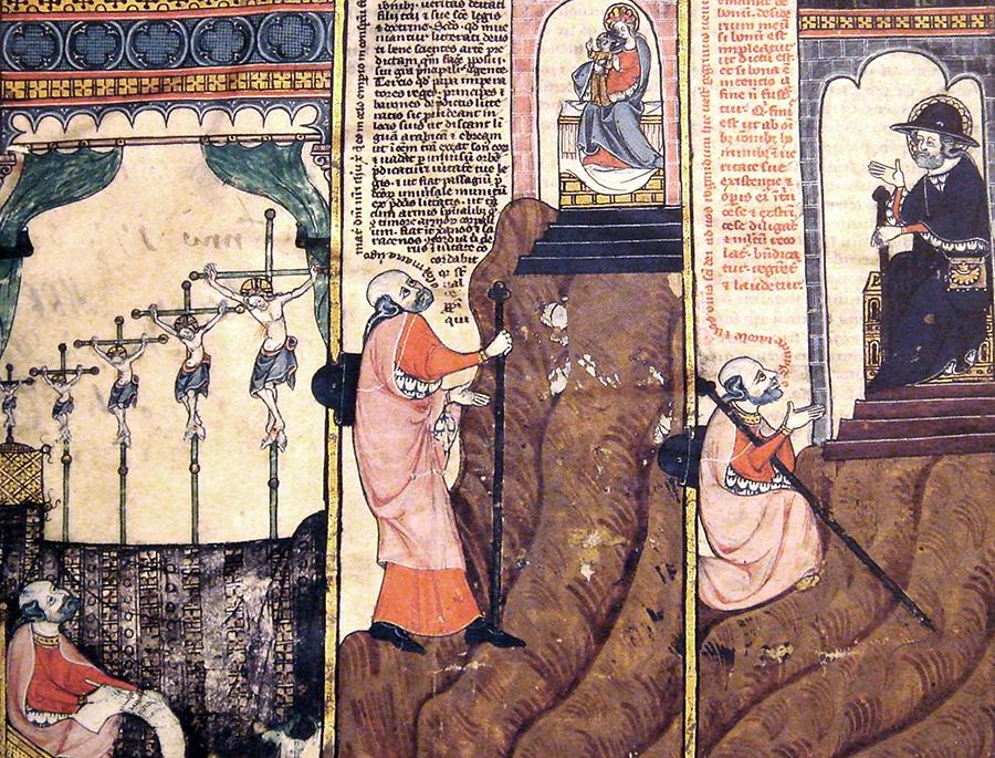 "From the 14th-century ""Life of Raymond Lull"", Thomas le Myésier"