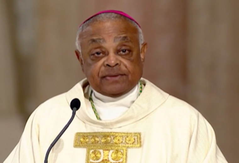 Archbishop Wilton Gregory delivers the homily at his May 21 installation Mass as archbishop of Washington.