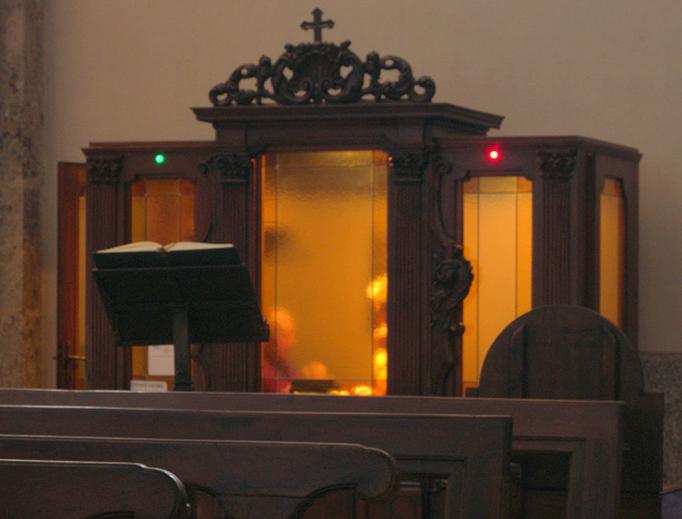 "Photo: Maurizio OM Ongaro, ""Confessionale Basilica Sant'Ambrogio Milano"", 2014"