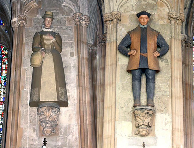 Statues of St. Margaret Ward and Blessed John Roche in St. Ethelreda's Church in London
