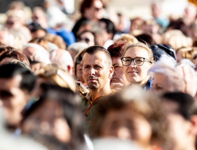 Young people gather in St. Peter's SquareOct. 3 to commence the youth synod with Pope Francis.