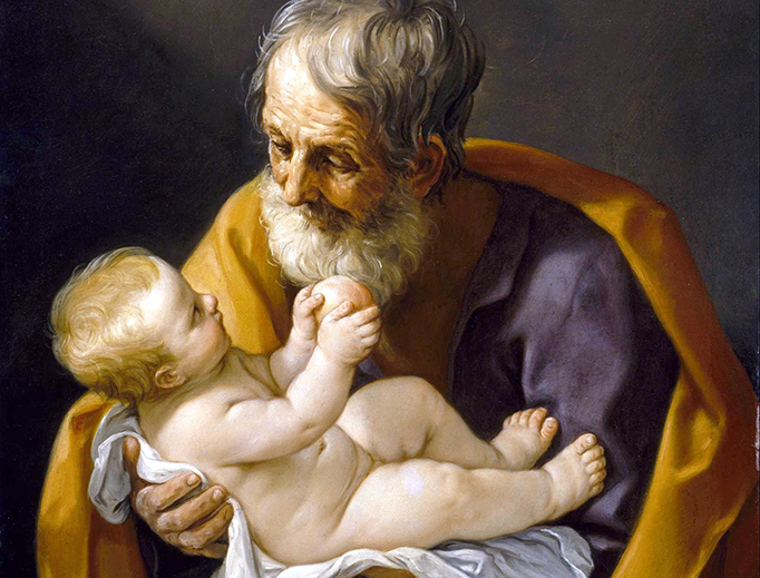 "Guido Reni, ""Saint Joseph and the Christ Child"", 1640"