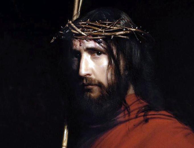 """Carl Heinrich Bloch (1834-1890), """"Christ with Thorns"""""""