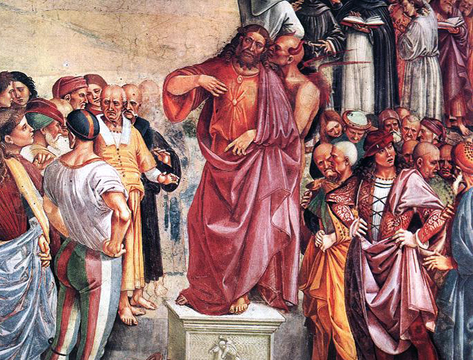 "Luca Signorelli, ""Sermon and Deeds of the Antichrist"" (c. 1500)"