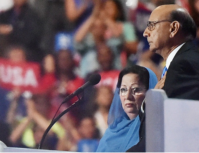 Khizr Khan delivered a speech at the Democratic National Convention in Philadelphia.