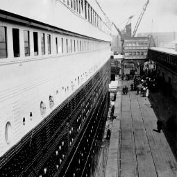 Photo Father Frank Browne took of Titanic when boarding the ship in Southampton, England.