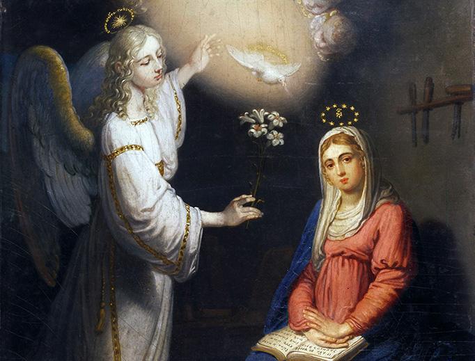 "Vladimir Borovikovsky (1757–1825), ""The Annunciation"""