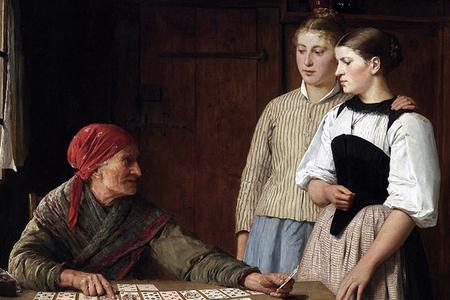 """Albert Anker, """"Fortune Teller,"""" 1880"""