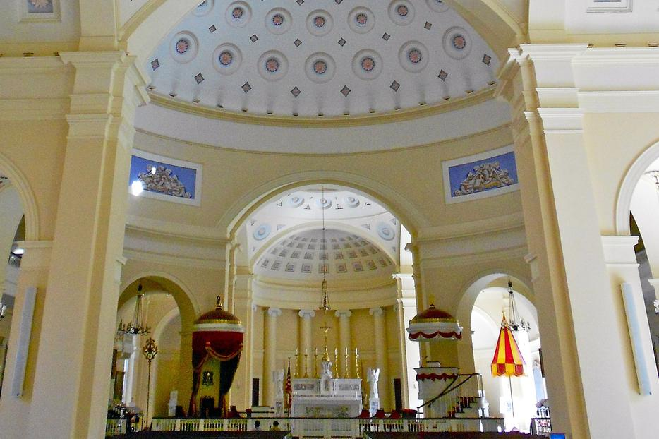 The Basilica of the Assumption in Baltimore is the first cathedral in the United States