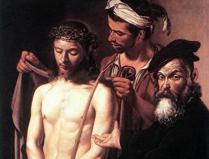 """Caravaggio, """"Ecce Homo,"""" 1605"""