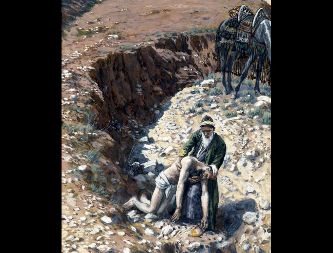 "James Tissot (1836-1902), ""The Good Samaritan"""