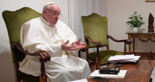 Pope Francis speaking to 'El Pais', Jan. 20, 2017.