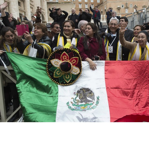 Pilgrims from Mexico at the general audience in St. Peter's Square on Feb. 10.