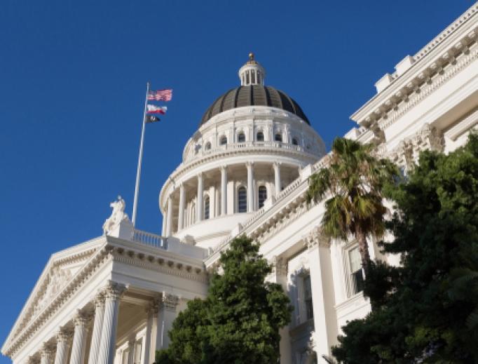 State Capitol dome in Sacramento, California.
