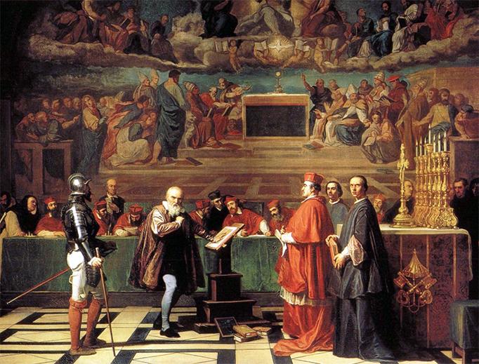 "Joseph-Nicolas Robert-Fleury, ""Galileo Before the Holy Office"""