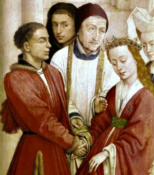 Detail of 'The Seven Sacraments' altarpiece by Rogier van der Weyden (1399/1400–1464)