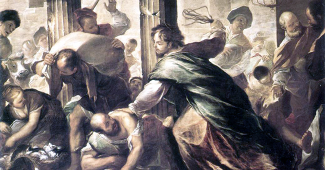 "Luca Giordano (1632-1705), ""Christ Cleansing the Temple"", Bob Jones University Museum & Gallery"