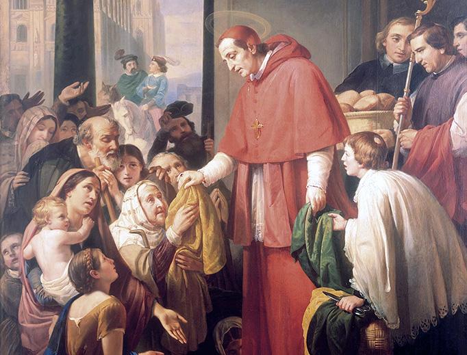 "José Salomé Pina (1830-1909), ""Saint Charles Borromeo Handing out Alms to the People"", 1853"